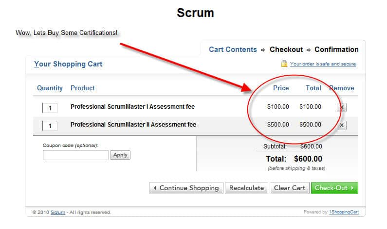 scrum for the money... certified scrum master