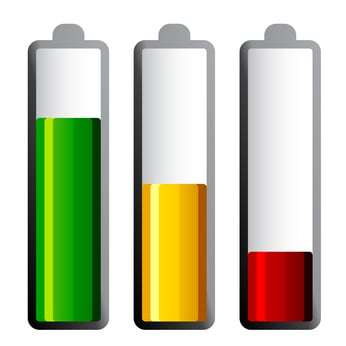 batteries with different charge levels