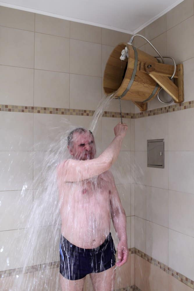 Dousing with cold water